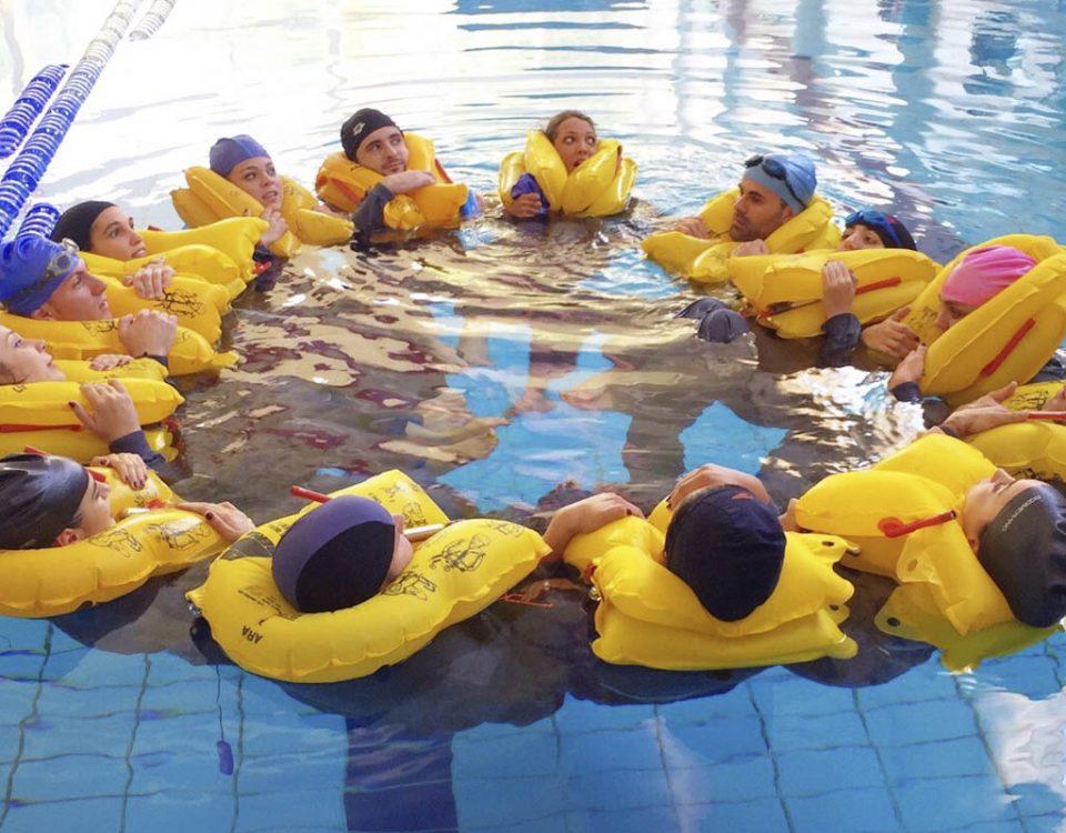 Las pruebas de natación de un TCP