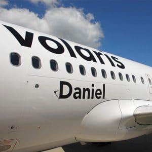nombre del avión de volaris